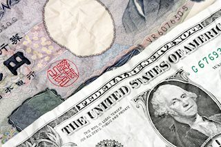 usd and yen crimped