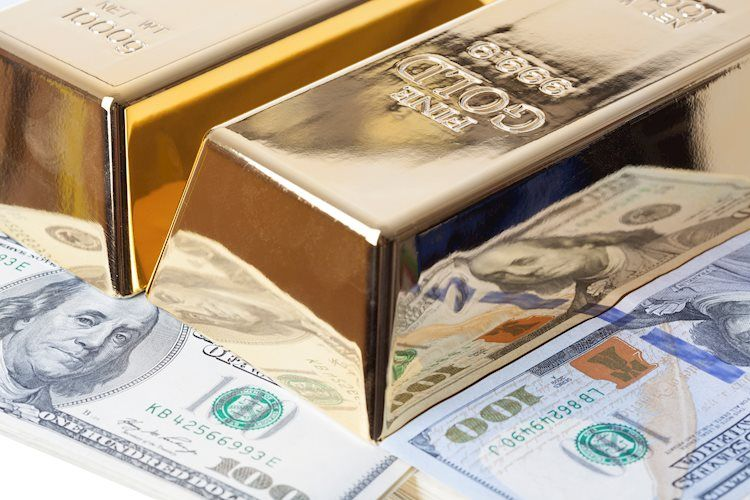 gold bar and dollar bills 42586628 Large