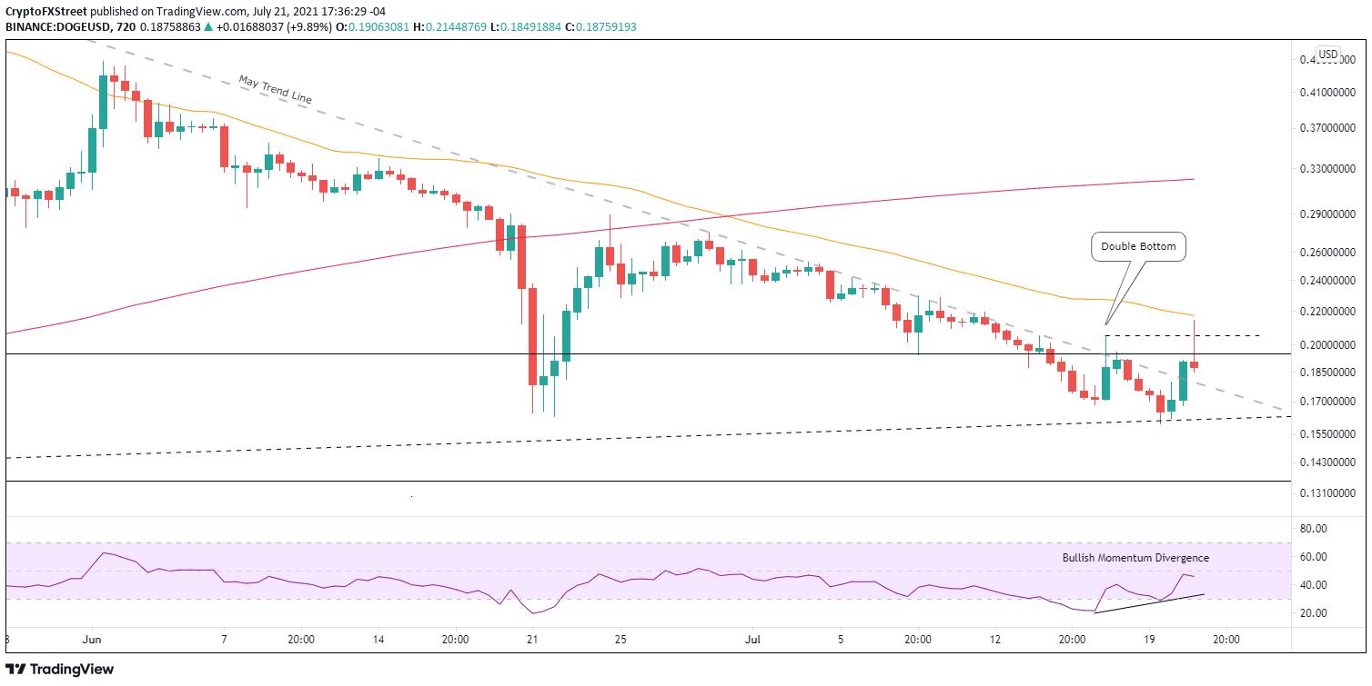 DOGE/USD 12-hour chart